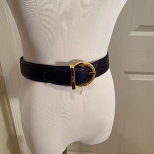 Salvatore Ferragamo belt, NWOT, purplish blue